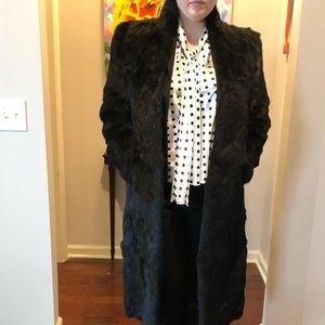 Jackets & Blazers - Full-length Rabbit Fur Coat